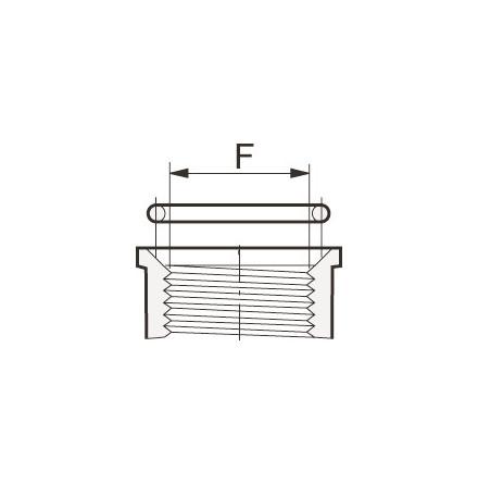 O-ringar för tätning mellan rördelar med M- och F-gängor.