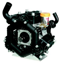 Kolvmembranpump 3-cyl, 126 l/min